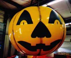 jack o'lantern helium balloon